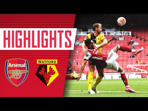 HIGHLIGHTS | Arsenal 3-2 Watford | Premier League | Aubameyang (2), Tierney