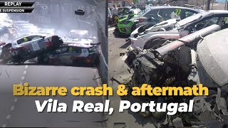 Bizarre crash Vila Real race 1 WTCR with Tom Coronel Honda Civic Type-r