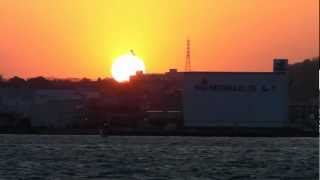 関門海峡の夕日&ベートーヴェン「悲愴」第2楽章