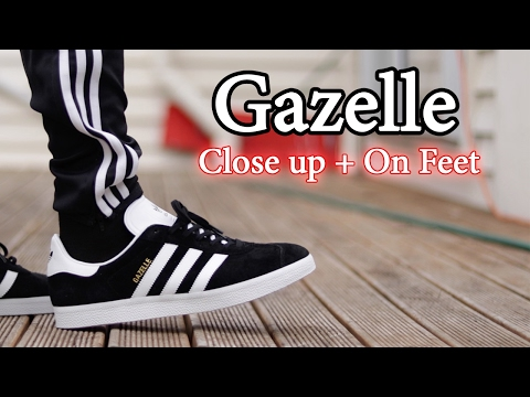 buy popular 30a0d eebde Adidas Gazelle (BlackWhite) On Feet With Different Pants And Close Up