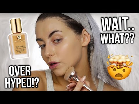 TESTING ESTEE LAUDER DOUBLEWEAR FOUNDATION!? FIRST IMPRESSIONS, WEAR TEST + REVIEW