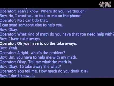 Kid calls 911 for help with math homework