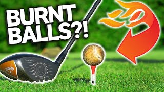 Playing Golf With Burnt Golf Balls