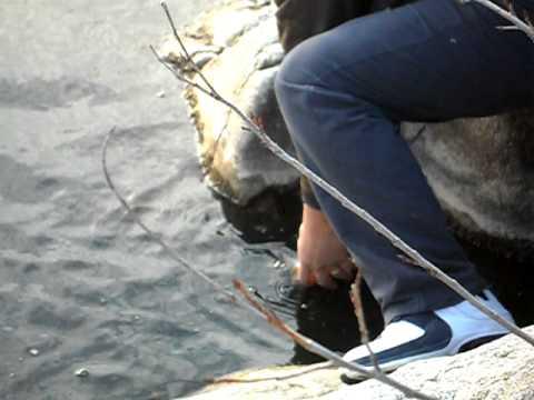 La pesca con un galleggiante galleggiante