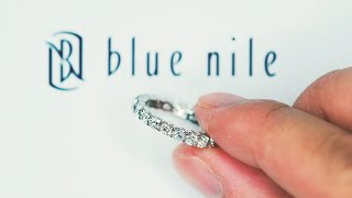 Blue Nile Classic Diamond Eternity Platinum Wedding Band Ring Review (4K HD)