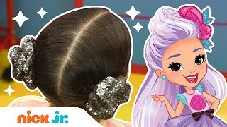 How to Create Glittery Princess Buns ✨ Hair DIY Style Files | Sunny Day's Style Files | Nick Jr.