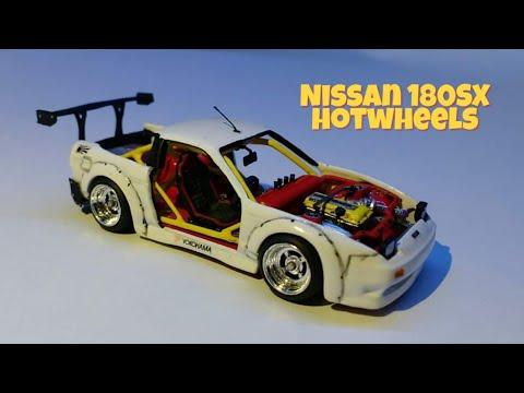Nissan 180SX type X- custom wars. Modelismo y maquetas scratch vs cazador del pasado.