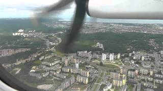 preview picture of video 'EuroLOT - Bombardier Q400 - Amazing sight seeing approach and landing in Gdansk'