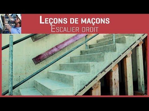 Les Leçons - Escalier droit comment construire un escalier en béton ? - 0 - Comment construire un escalier en béton ?