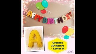 How to crochet 3D letters  - Letter A
