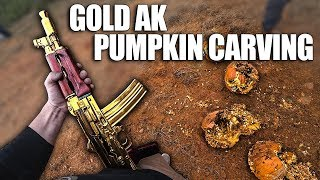 Carving Pumpkins With a GOLD AK!!! (Happy Halloween)
