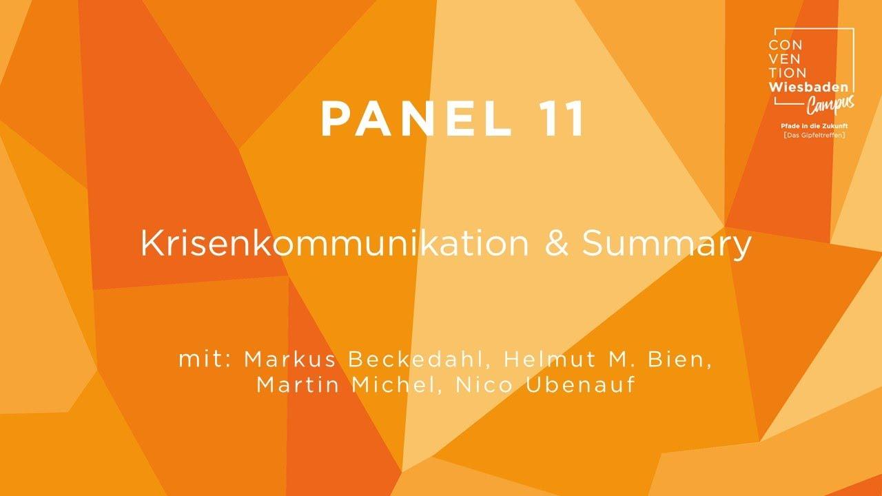 Video Panel 11: Krisenkommunikation & Summary