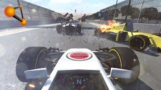 BeamNG.Drive - Formula R Onboard Crash Compilation (F1)
