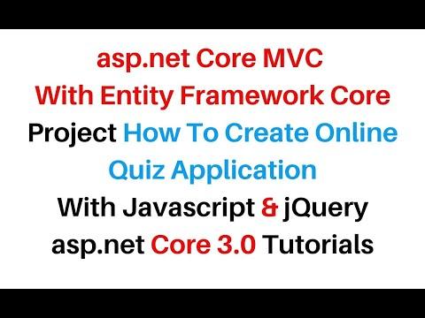 MVC ASP.NET CORE Online Internet Exam Quiz Application Visual ...