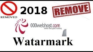 Remove 000Webhost logo from the bottom right of the free Website 2018