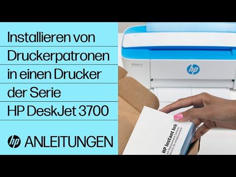 Installieren von Druckerpatronen in einen Drucker der Serie HP DeskJet 3700