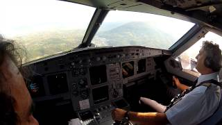preview picture of video 'Sarajevo LQSA Cockpit view landing rwy 12'