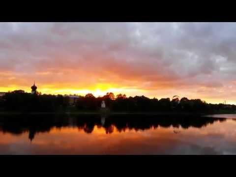 Шикарный закат в Пскове (видео)