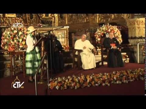 Le Pape rencontre la société civile de l'Équateur