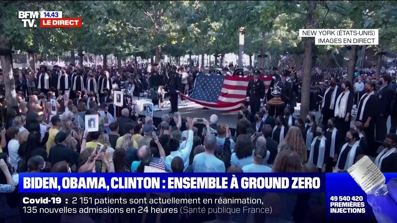 11-Septembre: l'hymne national américain résonne à Ground Zero pour le début des commémorations