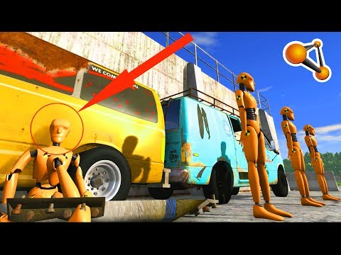 Dummy Close Shooting test Beamng Drive