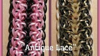 New Antique Lace Hook Only Rainbow Loom Bracelet/How To Tutorial