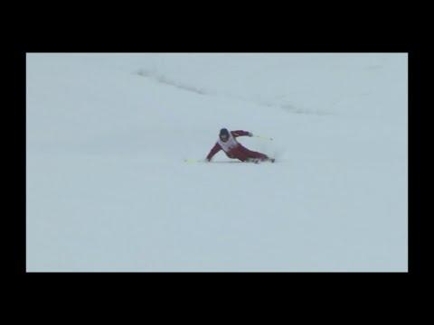 Reilly McGlashan -  Long turn SKI CARVING rhythm change, Hokkaido Technical Ski Championships 2016