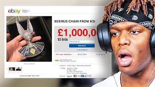 Selling KSI's $500k Beerus Chain on eBay