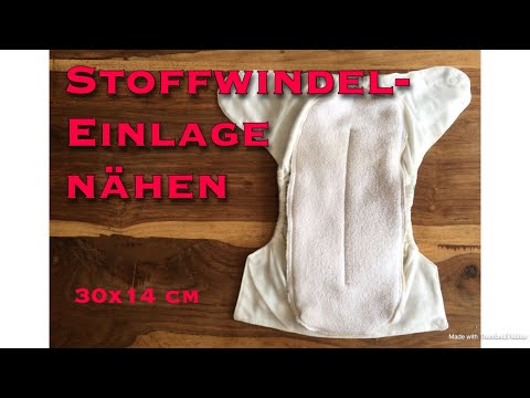 Stoffwindel Einlage aus Frottee Handtuch und Betttuch/ Laken nähen / Upcycling Idee Geld sparen