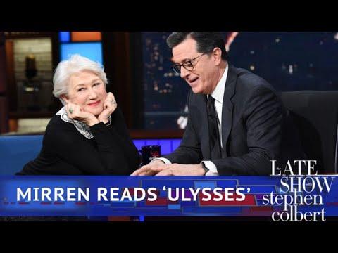 Helen Mirren Reads Poetry To An Emotional Stephen Colbert
