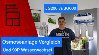 Osmoseanlage JG200 und JG600 vergleich und Anschluss I 90P Wasserwechsel I Pachi aquarium
