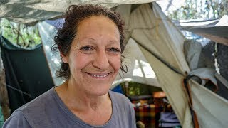 Los Angeles Homeless Woman Shows How She Lives in a Tent