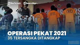 Operasi Pekat 2021, Polres Bogor Ringkus 35 Tersangka Mulai dari Kejahatan Jalanan hingga Prostitusi