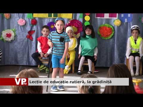 Lecție de educație rutieră, la grădiniță