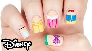 5 Classic Disney Princess Nail Art Tutorial