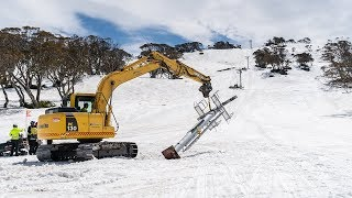 Construction Of The NEW Leichhardt Quad Chairlift Is Underway!