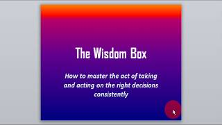 Christian video on wisdom of God: The wisdom box
