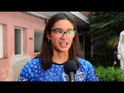 Petrecca recibió a la nadadora Lucía Ferreri