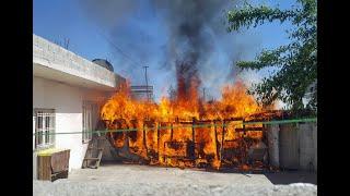 Hilvan#039;da, güvercinin sıkıştığı trafo bomba gibi patladı