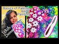 Basics of palette knife with painting demonstration demo how to paint acrylic flowers