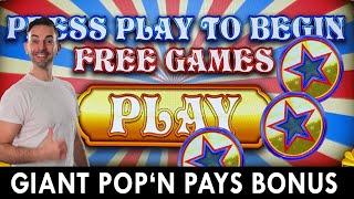 GIANT Pop' N Pays BONUS 🎉 Seven Feathers Casino Oregon #ad