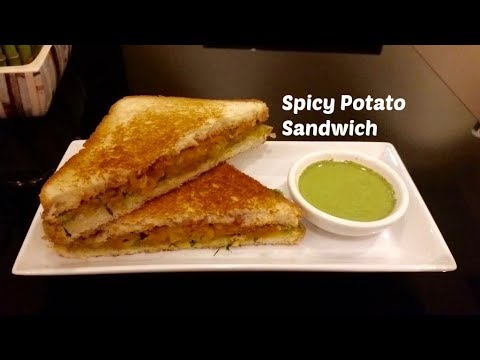 Spicy Potato Sandwich - Aloo Sandwich Recipe - Sandwich Recipe - Indian Breakfast Recipe