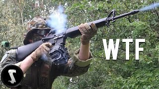 Guy Brings Scary Realistic FULL-AUTO Drum Mag M16A1 and DESTROYS Everyone!