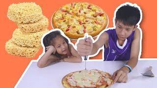 มาม่า พิซซ่า สุดอลังการ น่ากินมาก Noodle Pizza