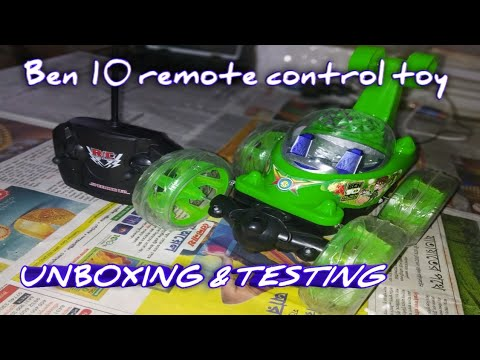 Ben 10 Remote Control Toys Unboxing And Playing With Rc  Adventure|Rc Stunt Car|.. TECHNICAL TOYS