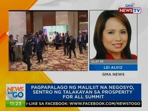 NTG: Pagpapalago ng maliliit na negosyo, sentro ng talakayan sa Prosperity For All Summit