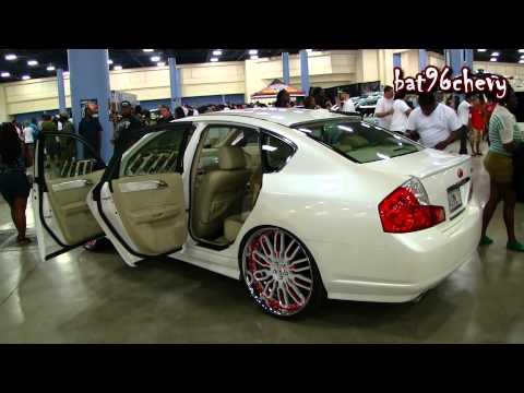 """Pearl White/Red Infiniti M45 on 24"""" Forgiatos Taglio Wheels - 1080p HD"""
