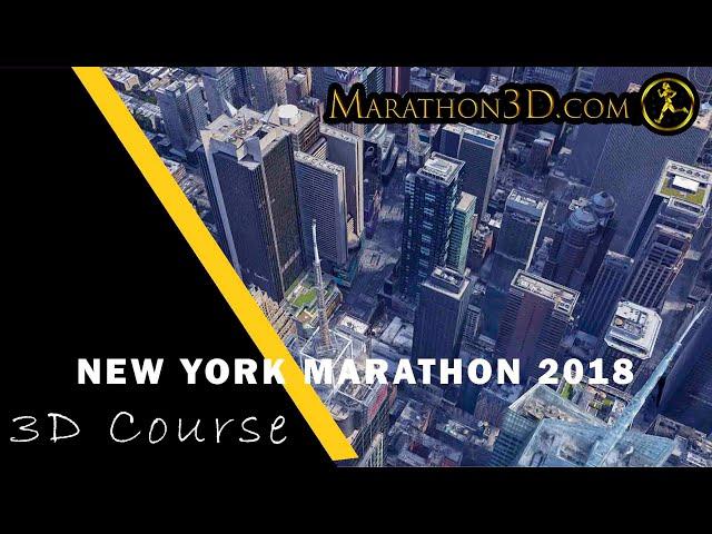 New York City Marathon 2018 3D Course