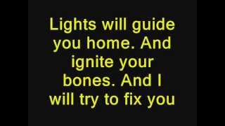 Coldplay - Fix You Lyrics