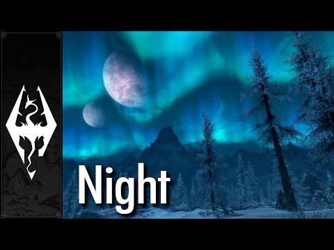 Skyrim - Ambience - Night (With Music)